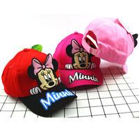 Kinder Mädchen Minnie Maus Sommer Baseball Cap Snapback Kappe Basecap Mütze Hut