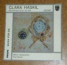 "LP Record 10"" Mozart Clara Haskil Piano Klavier KV 488 Paul Sacher Philips"