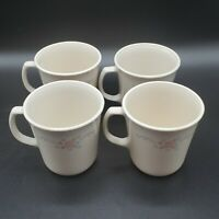 Set of 4 Corning Ware Corelle English Breakfast Coffee Cups Mugs NICE