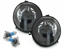 SCHEINWERFER schwarz + Osram Cool Blue Lampen H4 VW LUPO 98-05 Original DEPO Set