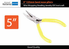 """5"""" 125mm bent angle nose pliers Wire Wrapping Beading Jewelry DIY tool craft"""