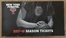 2017-18 NBA NEW YORK KNICKS COMPLETE BASKETBALL TWO TICKET BOOK - 88 TICKETS