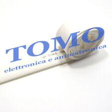 Guaina termorestringente 6,4mm di colore bianco 1m