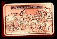 ★ MAGNIFIQUE LINGOT PLAQUE CUIVRE ● NAPOLEON ● LA BATAILLE DE WAGRAM ★★