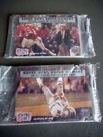 NFL PRO SET~SUPER BOWL SUPER MOMENTS~1990 OFFICIAL NFL CARDS ~ 2 PKS. UNOPENED.