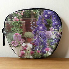 Make Up Bag Pouch Garden Delphinium Cosmetic Female Gift Floral Accessory Purse