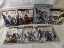 HUGE Assassin's Creed Playstation 3 PS3 7 Game Lot Bundle!!