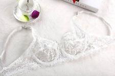 Transparent lace push Up bra bralette lace underwear Size 34 36 38 40 B C Cup