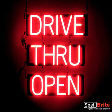 SpellBrite Ultra-Bright Drive Thru Open Sign Neon-Led Sign