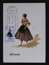 SPAIN MK 1967 TRAJES ALICANTE TRACHT COSTUME MAXIMUMKARTE MAXIMUM CARD MC c6077