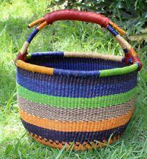 "Fair Trade Africa Bolga Market Basket  17"" wide x 11"" tall  Very Large Gorgeous!"