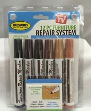 AS SEEN ON TV Furniture Repair System 12 piece Markers Fillers Home Touch-Up Kit