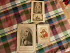 lot de 3 CANIVET / Image Pieuse ch letaille HOLY CARD 19thC Santino
