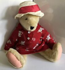 Alice Vanderbear Puttering Around Limited edition Teddy Bear Golf Plush 1997 Red
