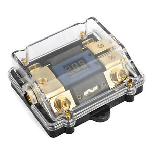 LED Display 2x4GA OUT Distribution Block Fuse Holder for Car Audio Marine A8