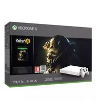 Xbox One x 1TB White Special Edition Fallout 76 game download Bundle BN + WNTY