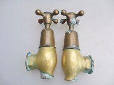 Laiton antique robinets salle de bain évier teardrop torpille vintage globe edwardian porcelaine