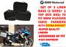 Koffer Inliner Tasche & Top Box Tasche für BMW Vario R1200 GS mit Außen Fach
