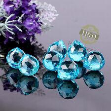 5X Blue Crystal Glass Chandelier Light Ball Prisms Suncatcher Drop Pendant 20MM