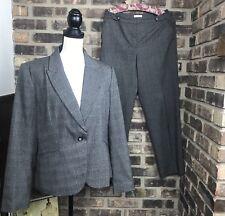 Women's Suit 2 pc VAN HEUSEN STUDIO size large 8 Blazer Pants  Stretch SZ 8R AE