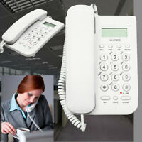 Desktop Home Wall Mount Office Corded Phone Caller Id Telephone Clock Home