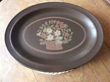 Vintage 70's Royal Doulton Lambeth Stoneware Basque Oval Platter