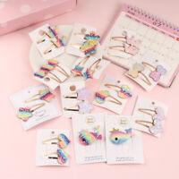 für Kinder Glitter Sequin Stern Barretten BB Haarnadeln Haarklammern Regenbogen