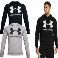 Under Armour Mens Rival Hoodie Big Logo Hooded Sweatshirt Hoody Fleece Top