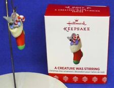 Hallmark Miniature Ornament A Creature Was Stirring #2 2017 Mouse Stocking Nib