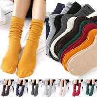 Women Girls Long Stockings Calf Socks Thin And High Socks Winter Warm 10 Colors