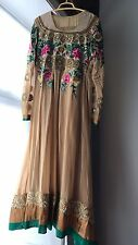 Ochre/ Green/cream/ Pink Size 12 - 14 Anarkali / Maxi Dress / Abaya
