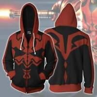 Star Wars Darth Maul hoodie Sweatershirt Cosplay Men Clothing Adult Hooded Coat