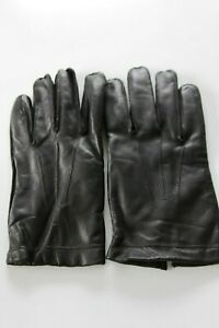 NEW MEN'S MARKS & SPENCERS BLACK CLASSIC LEATHER GLOVES SIZE L