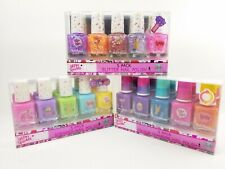 Girls Children Nail Polish Glitter Scented Colour Changing Set Of 5, Age 6+