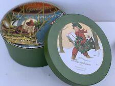 Pottery Barn Nostalgic Carol Plates Christmas Salad Dessert Plates Original Box