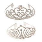 Rhinestone Crystal Women Crown Headband Tiara Wedding Bridal Flower Girl Prom US