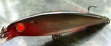 Rapala X-rap Slashbait XR-10 Lure Silver w/Custom GLOWING RED FIBER OPTIC EYES