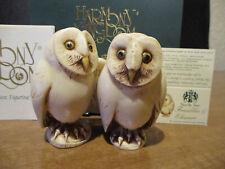 Harmony Kingdom Two by Two Franklin & Eleanor Owls Uk Made Figurines
