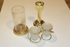Partylite Candle Brass & Glass Votive Candle Chamber Brass Candlestick