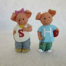 Pigs Danbury Mint Porkchesters Sally & Hamilton Pig Figurines Collectible