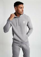 Gym King Mens Overhead Pullover Hooded Sweatshirt Sweater Designer Hoodie Grey