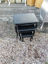 BLACK FRENCH STYLE NEST OF 3 TABLES DEL AVAIL