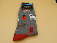 Mens Gray Fashion Socks size 6-12-Dogs