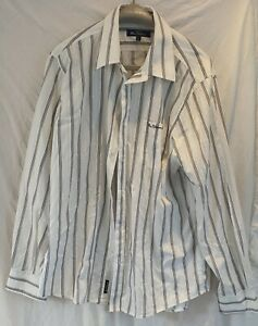 Ben Sherman formal/casual long sleeved black/white stripped shirt XL size  Used
