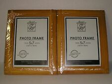 "2 Special Moments Sm Natural Wood Photo Frame 5 "" x 7 "" / 13 cm x 18 cm New!"