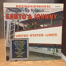 Around the World With Santo and Johnny LP Canadian American VG+ Lady of Spain