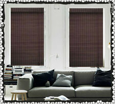 NEW 120 x 210 Bamboo Roman Blind Blinds Blockout Ready Made Mahogany Window