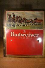 Vintage Budweiser Clydesdale Horse Sign Potomac Distributing Company, Keyser, WV