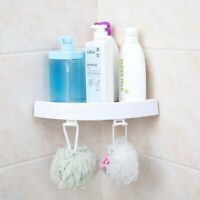 2Pack Self Adhesive Bathroom Corner Shower Bath Storage Holder Organizer Rack US