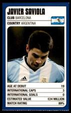 Revista de coincidencia-Trump Tarjetas (2002) de la Copa Mundial de Javier Saviola (Argentina)